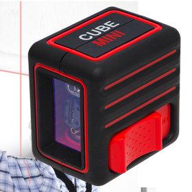 미니 큐브 레이저 레벨기 레드 수직 수평기 라인레벨