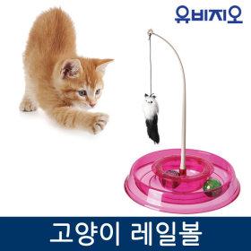 고양이장난감 레일볼/턴테이블/고양이 스트레스해소