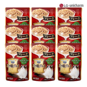 긴노스푼 고양이간식 후레이크(닭가슴참치가다랑)x9팩