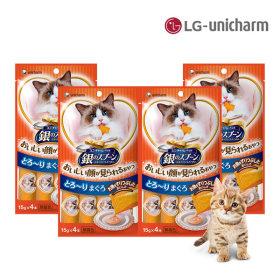 긴노스푼 고양이간식 해피퓨레(참치)60g 4팩