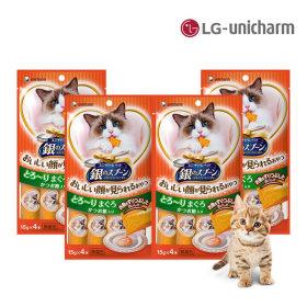 긴노스푼 고양이간식 해피퓨레(참치가다랑)x4팩