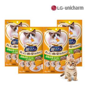 긴노스푼 고양이간식 해피쥬레(가다랑어포)x4팩