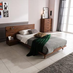피칸 멀바우 평상형 침대(매트제외-SS)