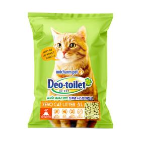 유니참 데오토일렛 고양이모래 사막화방지 소취향균 4L