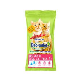 유니참 데오토일렛 고양이패드 다묘용 소취향균 8P