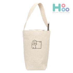 오버액션토끼 텀블러 에코백 미니가방 드링크백_토끼