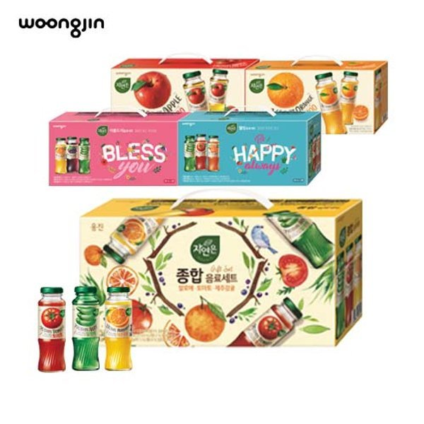 웅진식품 자연은 병음료(180mlx12병)x4세트 선물세트 상품이미지