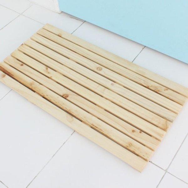 가쯔 원목욕실매트와이드형내츄럴(90X45Cm) 상품이미지