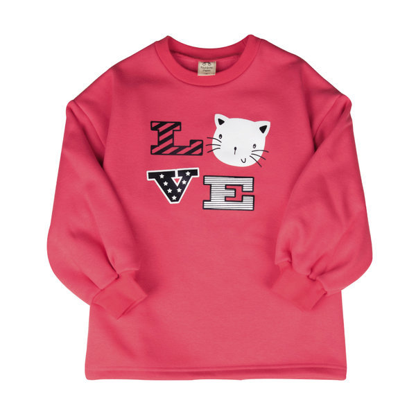 주니어 아동 여아의류 러브캣벌룬소매밍크기모롱티셔츠 상품이미지