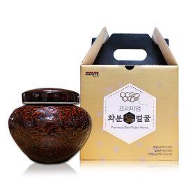 프리미엄 화분애벌꿀 1.2kg 국산100% (벌화분+벌꿀)