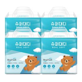 슈퍼대디 기저귀 리얼소프트 팬티 빅형 18매X4팩