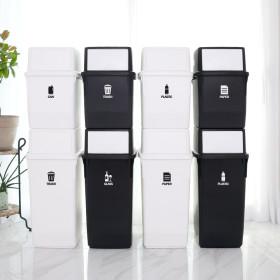 가정용 재활용 컬러빈 롱바디 대용량 분리수거함 1개