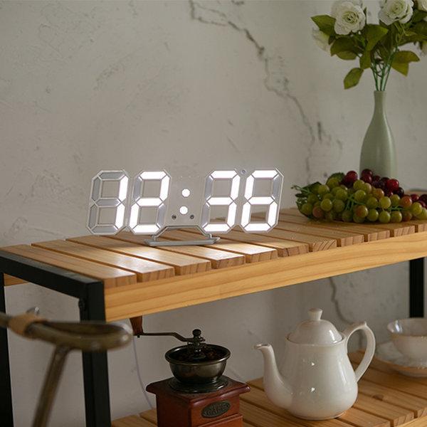 LED시계 무드등 인테리어 디자인 탁상시계 벽걸이시계 상품이미지