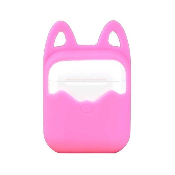 에어팟 호환 실리콘 고양이 케이스 파우치 핑크 상품이미지