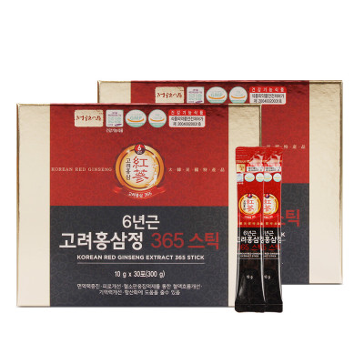 6-Year-Old Korean Red Ginseng Extract 365 stick red ginseng stick 2 boxes