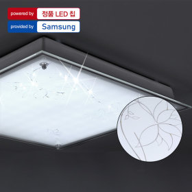 LED방등/조명/등기구 플라워 철판사각 방등 50W (LG칩)