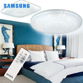 LED방등/조명/등기구  원형/사각 슬림 방등 50W+리모컨
