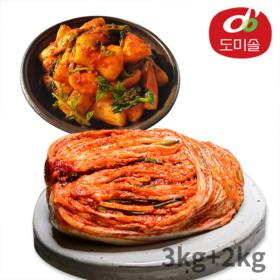[도미솔김치] [도미솔] 박미희 포기김치 3kg+총각김치 2kg