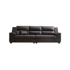 테라 천연가죽 4인용소파+카우치스툴 DF907373