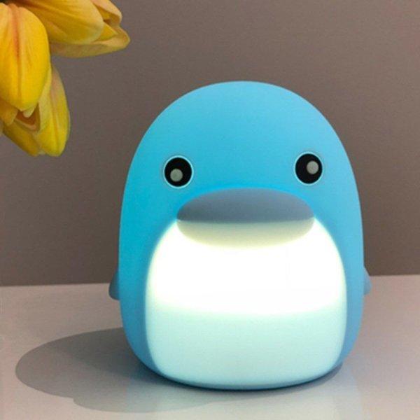돌고래 LED 터치 센서 체인지 램프 스카이 블루 상품이미지