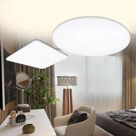 LED방등/조명/등기구 유리철판 방등 60W 삼성칩+리모컨