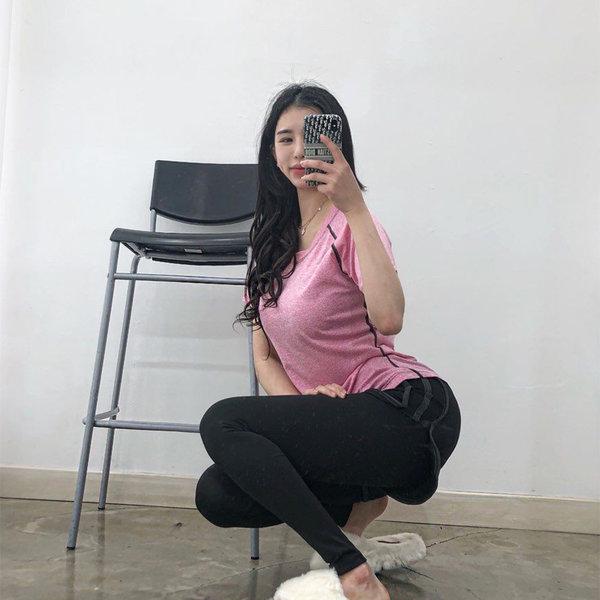 문릿 여성 요가복 운동복 세트 (상의+하의) 상품이미지