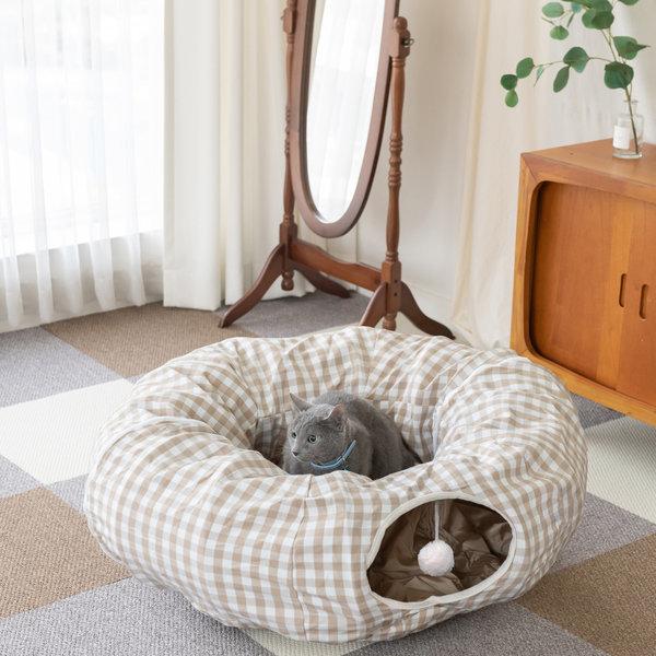 세븐펫 고양이 숨숨매트 숨숨집 넥카라 고양이집 상품이미지