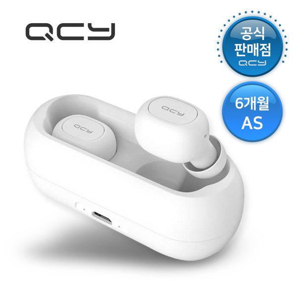 QCY T1 TWS 5.0 블루투스 무선 이어폰 화이트 6개월 as 상품이미지