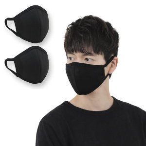 3D 입체 면 마스크 블랙3개 검정 패션 자전거 연예인