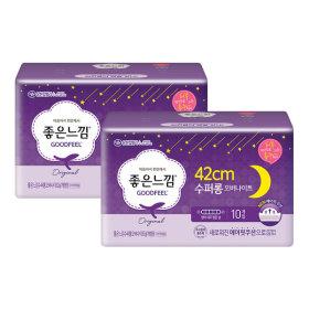 매직쿠션 슬림날개 수퍼롱 10매X2팩/생리대