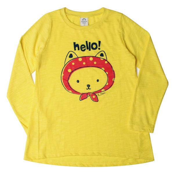 주니어여아의류 롱티셔츠 빨간모자냥이 언발긴팔롱티A 상품이미지
