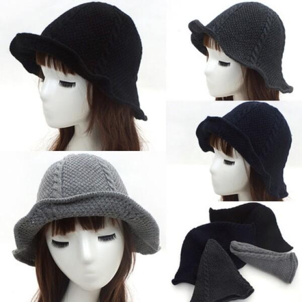 (현대Hmall)귀여운 꽈배기 여성 패션 나들이 니트 모자 벙거지 상품이미지