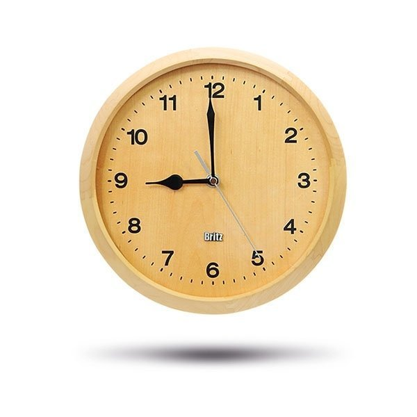 w Britz 브리츠인터내셔널 BZ-C17W 무소음 원목 시계 상품이미지