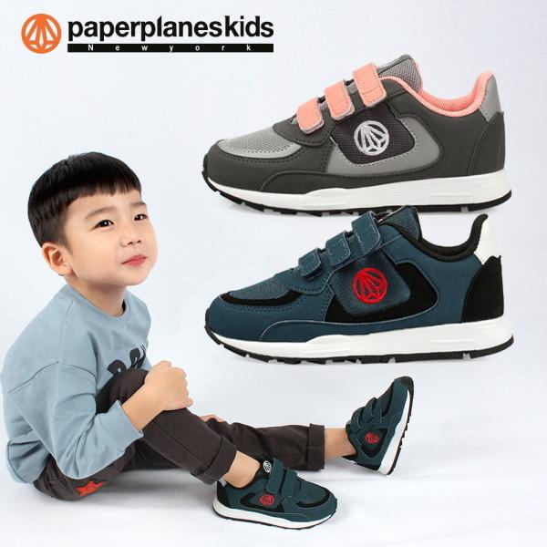 페이퍼플레인키즈  아동 운동화 아동화 어린이 키즈 남아 여아 주니어 슈즈 신발 찍찍이 상품이미지