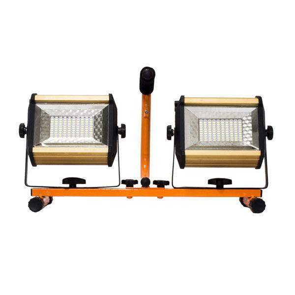 RAK LED 휴대용 충전식 투광기 2구 (100W+100W) 상품이미지