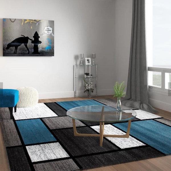거실 극세사 면 카페트 러그 매트 카패트 카펫 블루랙 상품이미지
