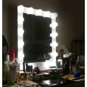 헐리우드 LED 조명 화장 메이크업 거울 탁상용 화이트