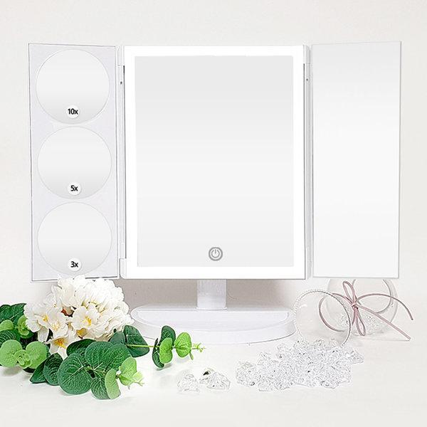 뷰센스 3단 접이식 LED 조명 BS238A-DL 화장거울 대형 상품이미지