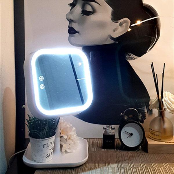 뷰센스 LED 무드등 겸용 BS061 탁상용 조명 화장 거울 상품이미지
