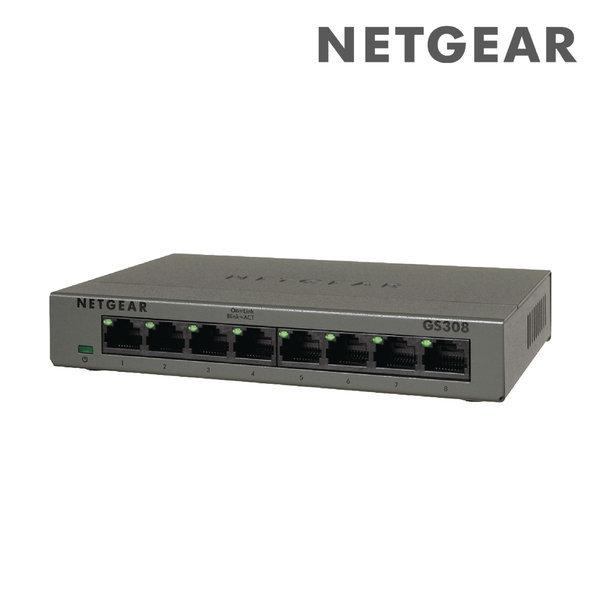1Gbps 유선 스위칭 /8포트 기가 스위치 허브 GS308 상품이미지