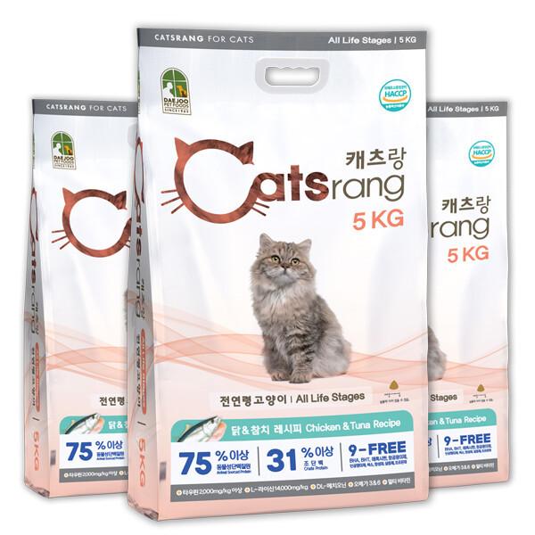캐츠랑 전연령 5kg x 3개 캣츠랑 고양이사료 상품이미지