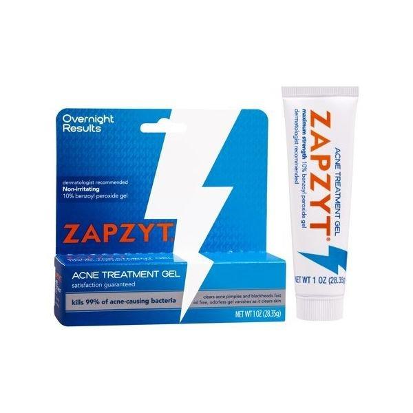 ZAPZYT Zapzyt Acne Treatment Gel Clears Acne  Pimples  and Blackheads Fast  1 Oz  Tube 상품이미지
