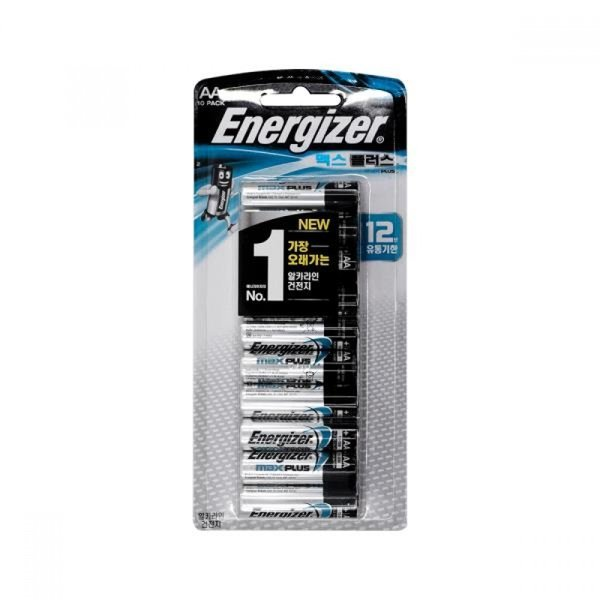 에너자이저 맥스플러스 AA(10팩) 알카라인건전지 1.5V 상품이미지