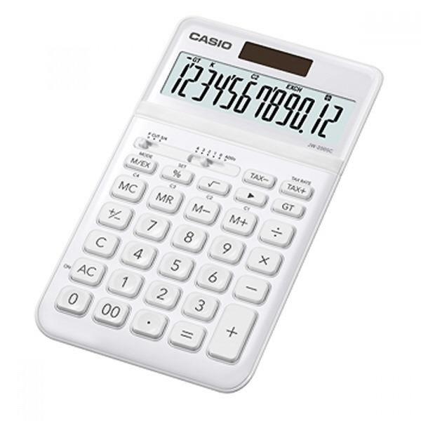 카시오 계산기 JW-200SC TW 화이트 12자리 MO 상품이미지