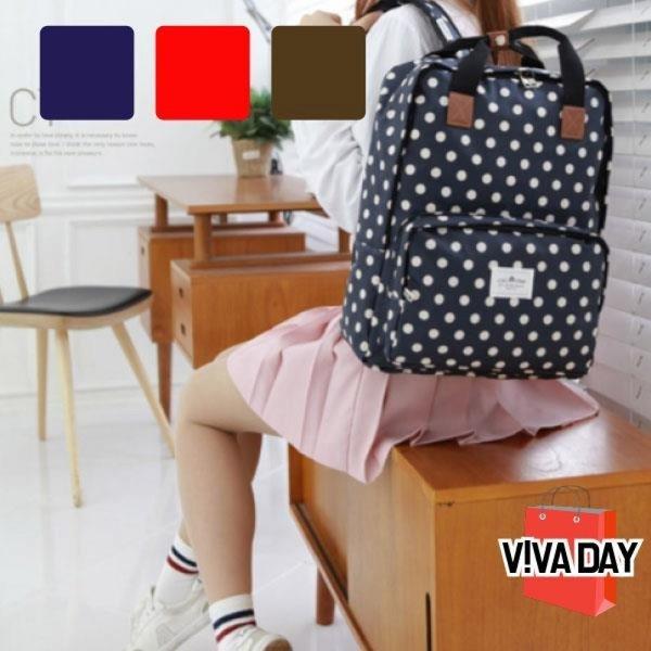 VIVADAYBAG-A95 도트무늬백팩 상품이미지