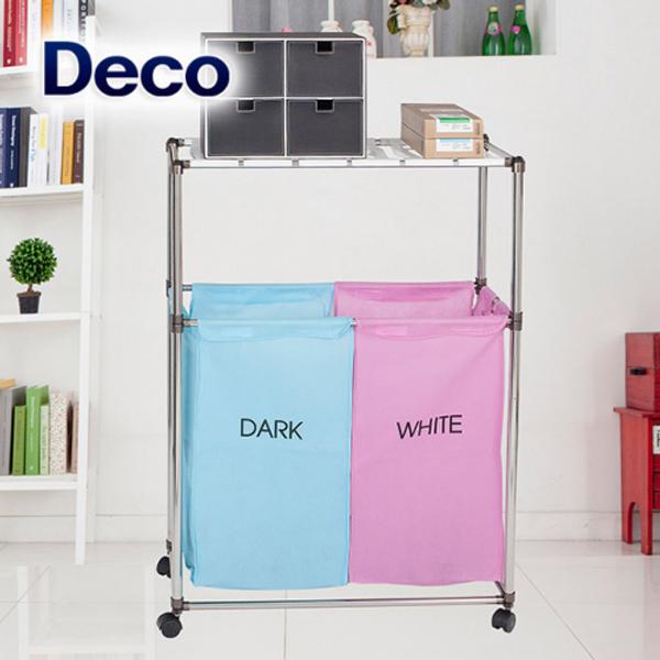 데코 세탁물분리보관함 핑크2P-2단 상품이미지
