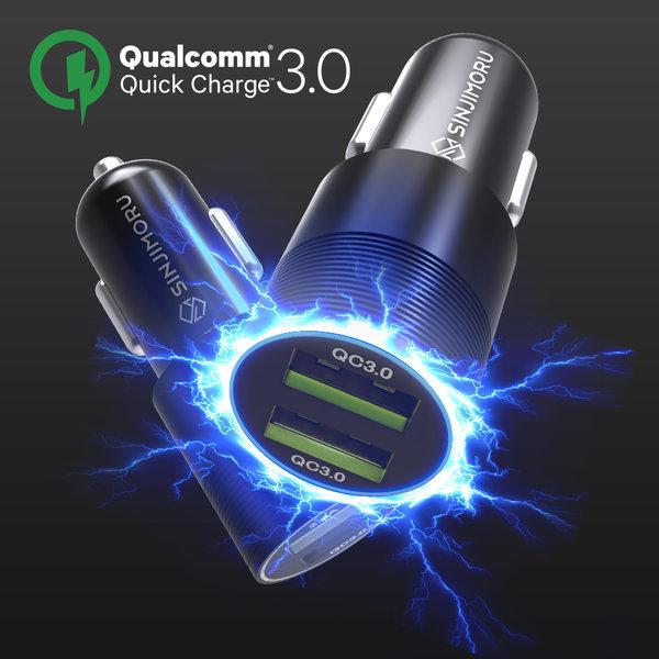 QC3.0/QC3.0-퀄컴3.0 듀얼 차량용 고속 충전기 시거잭 상품이미지