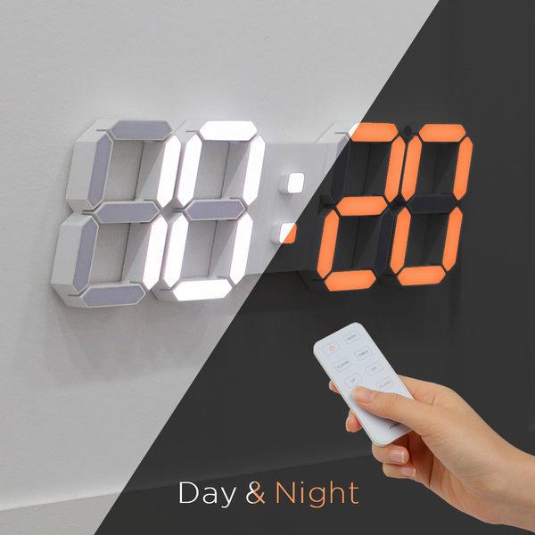 3D 거실 LED벽시계 무선 리모컨 빅플러스 듀얼 상품이미지