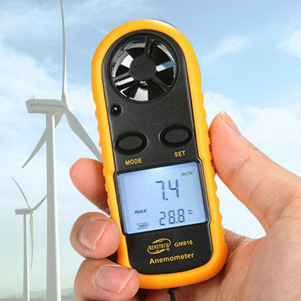 디지털 풍속계 휴대용 풍량계 풍향풍속계 바람측정 상품이미지
