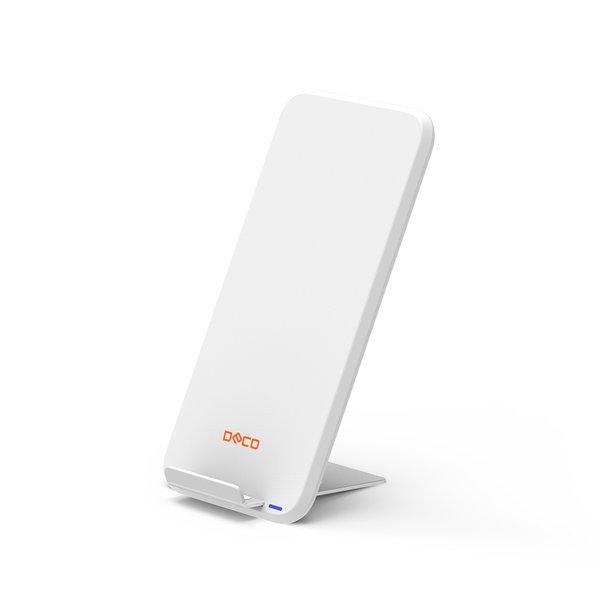 데코 DO-W10 고속 무선충전기 휴대폰거치대 화이트 상품이미지